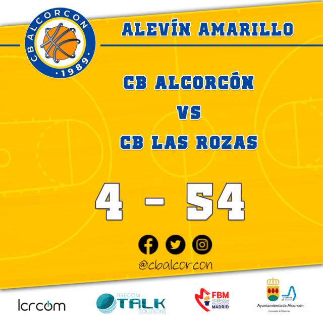 CB Alcorcón 4 – CB Las Rozas 54