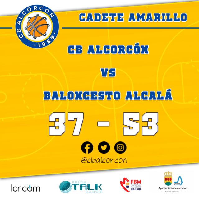 CB Alcorcón 37 – Baloncesto Alcalá 53