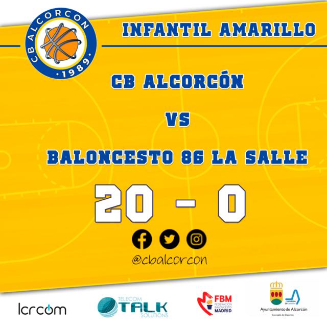 CB Alcorcón 20 – Baloncesto 86 La Salle 0