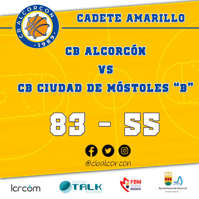 CB Alcorcón 83 – CB Ciudad de Móstoles «B» 55
