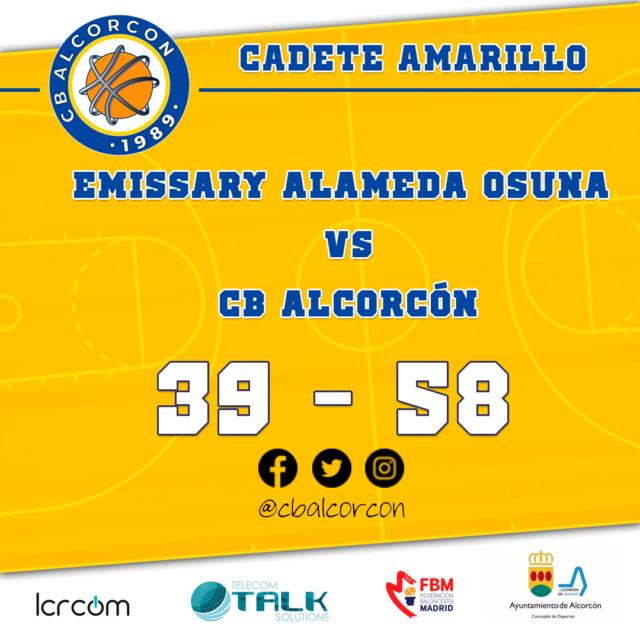 Emissary Alameda de Osuna 39 – CB Alcorcón 58