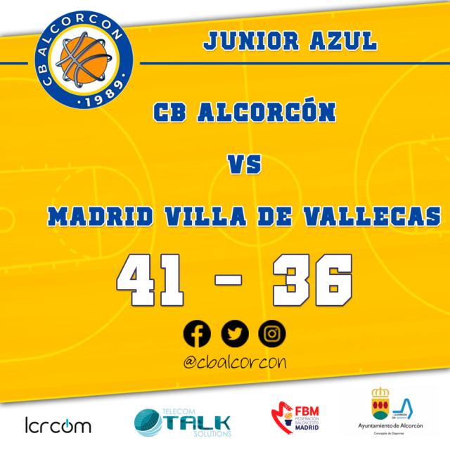 CB Alcorcón 41 – Madrid Villa de Vallecas 36