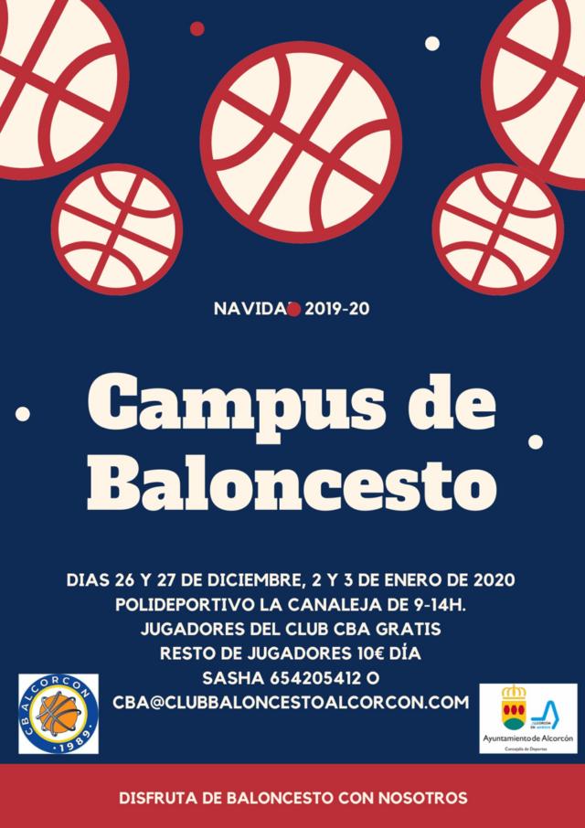 Campus del Club Baloncesto Alcorcón – Navidad 2019