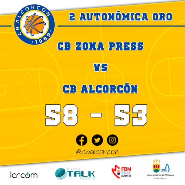 CB Zona Press 58 – CB Alcorcón 53