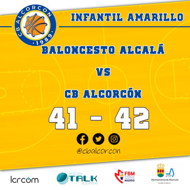 Baloncesto Alcalá 41 – CB Alcorcón 42
