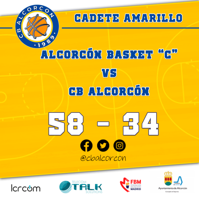 Alcorcón Basket  58 – CB Alcorcón 34