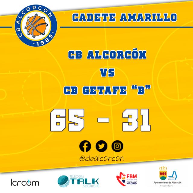 CB Alcorcón 65 – CB Getafe «B» 31