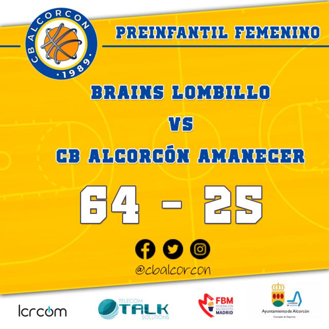 Brains Lombillo 64 – CB Alcorcón Amanecer 25
