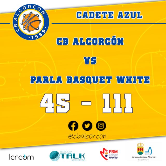 CB Alcorcón 45 – Parla Basquet White 111