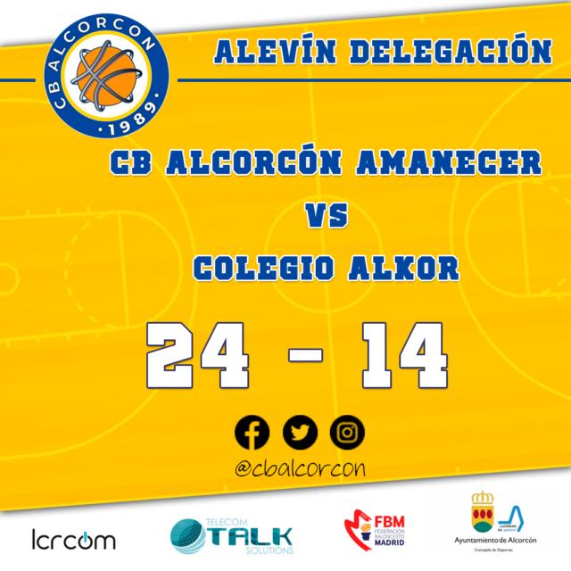 CB Alcorcón 24 – Colegio Alkor 14