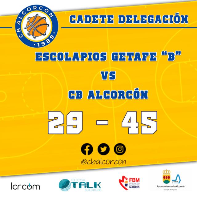 Escolapios Getafe «B» 29 – CB Alcorcón 45