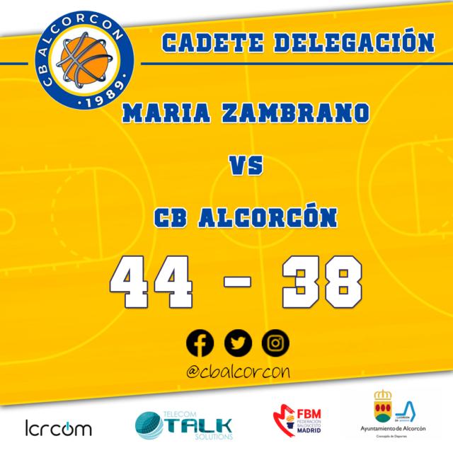 Maria Zambrano Basket 44 – CB Alcorcón 38