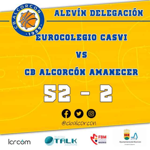 Eurocolegio Casvi 52 – CB Alcorcón Amanecer 2