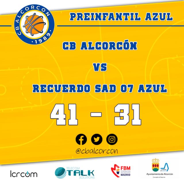 CB Alcorcón 41 – Recuerdo SAD 07 Azul 31