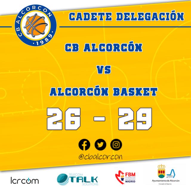 CB Alcorcón 26 – Alcorcón Basket 29