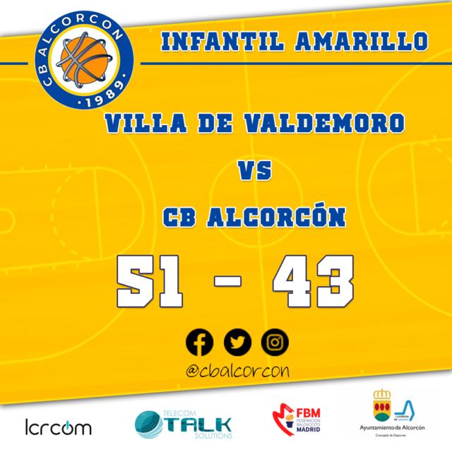 Villa de Valdemoro 51 – CB Alcorcón 43