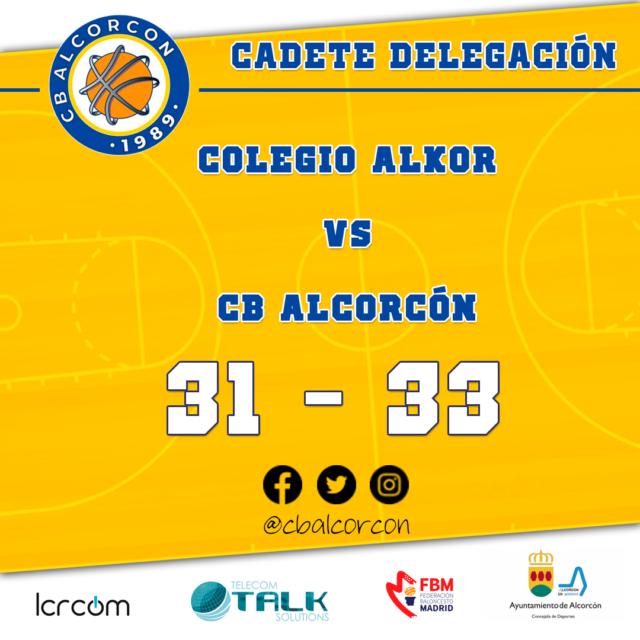 Colegio Alkor 31 – CB Alcorcón 33