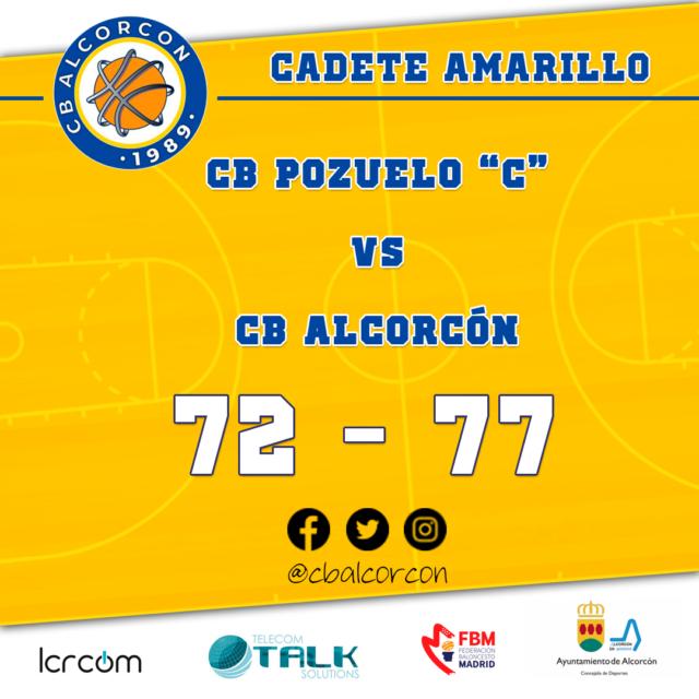CB Pozuelo «C» 72 – CB Alcorcón 77