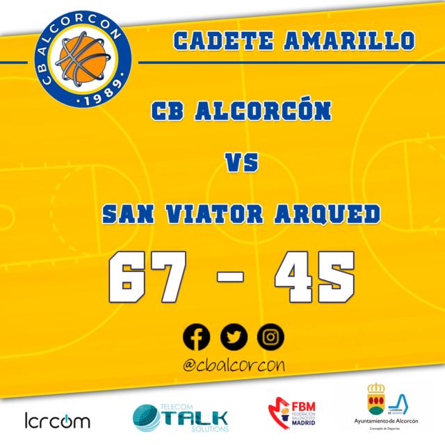 CB Alcorcón 67 – San Viator Arqued 45