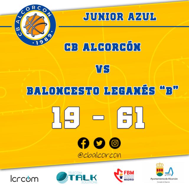 CB Alcorcón 19 – Baloncesto Leganés «B» 61