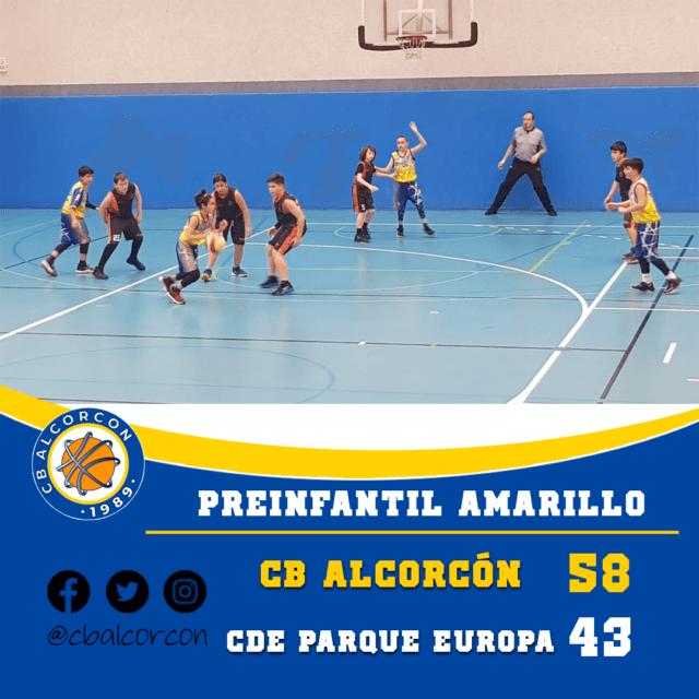 CB Alcorcón 58 – CDE Parque Europa Pinto 43
