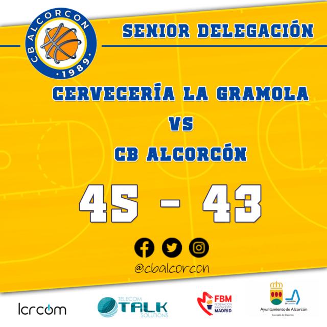 Cervecería La Gramola 45 – CB Alcorcón 43