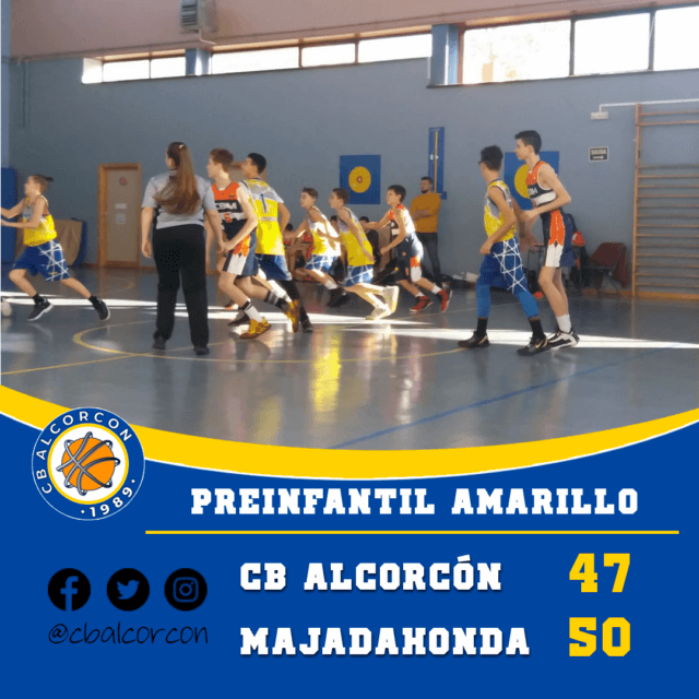 CB Alcorcón 47 – Majadahonda Naranja 50