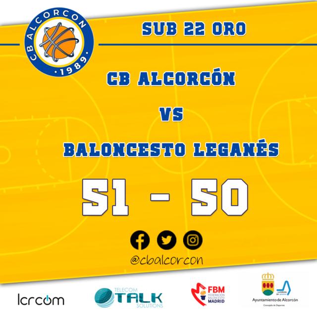 CB Alcorcón 51 – Baloncesto Leganés 50