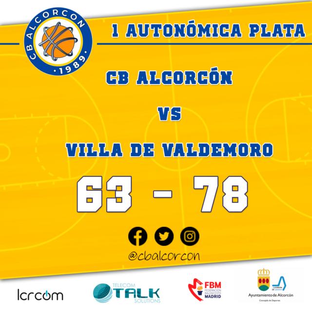 CB Alcorcón 63 – Villa de Valdemoro 78