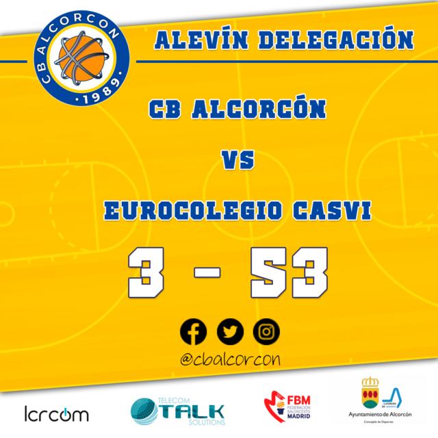 CB Alcorcón 3 – Eurocolegio Casvi 53