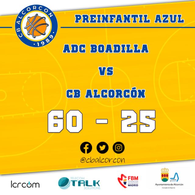 ADC Boadilla 60 – CB Alcorcón 25
