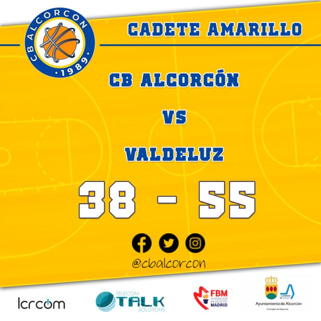 CB Alcorcón 38 – Valdeluz 55