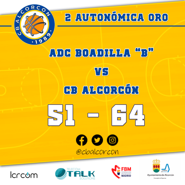 ADC Boadilla «B» 51 – CB Alcorcón 64