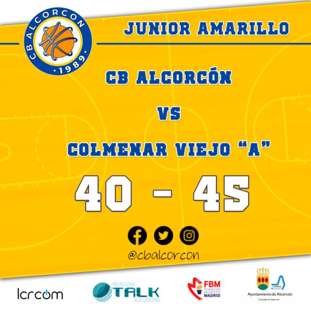 CB Alcorcón 40 – Colmenar Viejo «A» 45