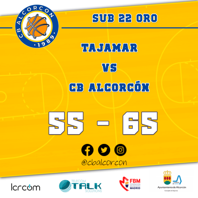 Tajamar 55 – CB Alcorcón 65