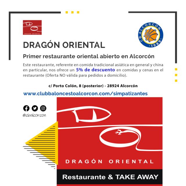 Dragón Oriental – Colaborador Club Baloncesto Alcorcón