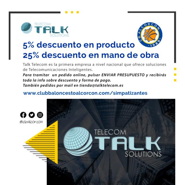 Talk Telecom Solutions – Colaborador Club Baloncesto Alcorcón