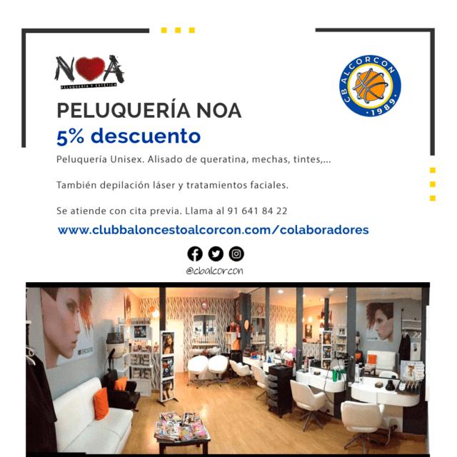 Peluquería NOA – Colaborador Club Baloncesto Alcorcón
