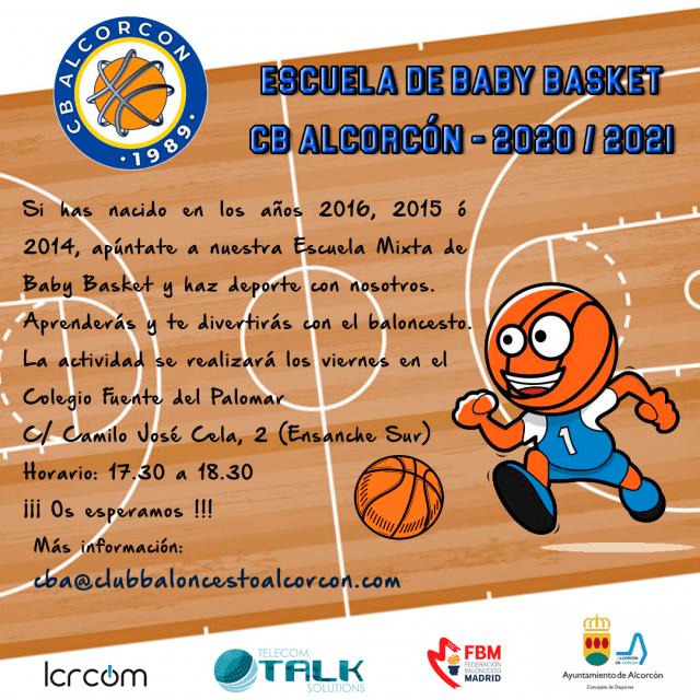 Escuela de Baby Basket – Club Baloncesto Alcorcón