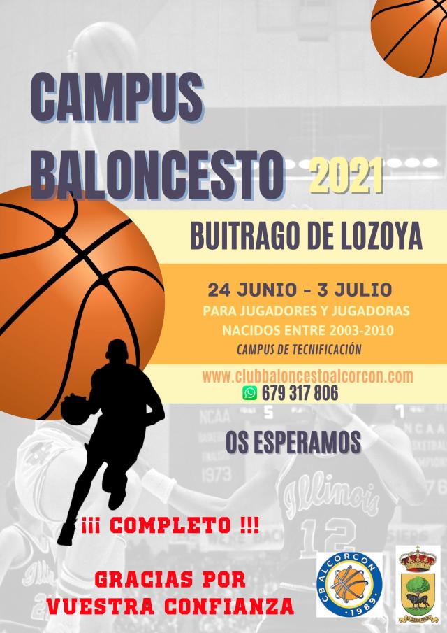 Campus CBA de Tecnificación 2021 en Buitrago del Lozoya – Dossier y Hoja de Inscripción