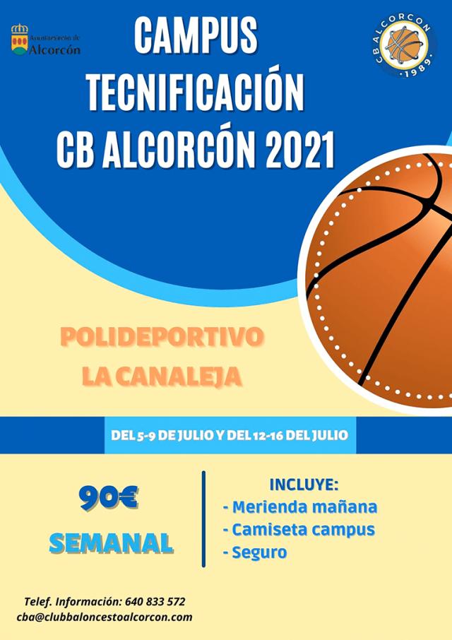 Campus de Tecnificación en Alcorcón – 5 a 16 de julio 2021